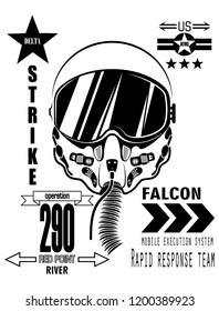 delta air force pilot oxygen mask poster