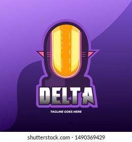 Delta E-Sports Logo Design Vector