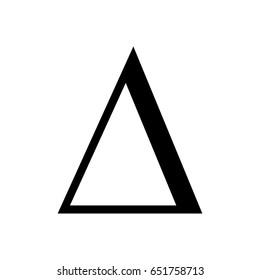 Delta icon.