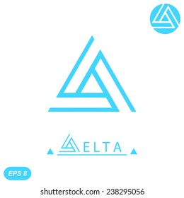 Delta letter logo template, 2d flat illustration, vector, eps 8