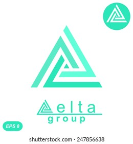 Delta letter logo template, 2d flat illustration, isolated, vector, eps 8