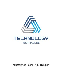 Delta Triangle Technology Firm Logo Vector