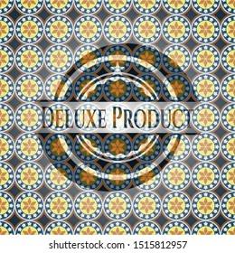 Deluxe Product arabesque style emblem. arabic decoration.