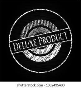 Deluxe Product on blackboard. Vector Illustration. Detailed.