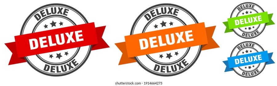 deluxe stamp. deluxe round band sign set. Label