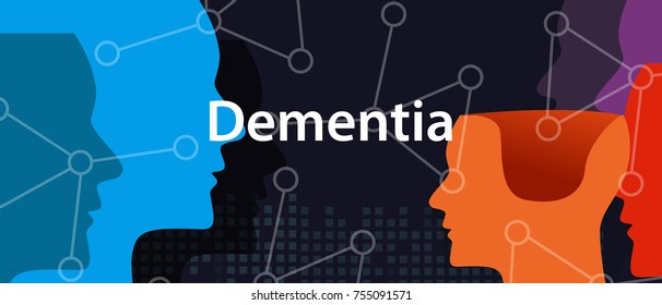 Dementia alzheimer brain neurology health problem head thinking concept
