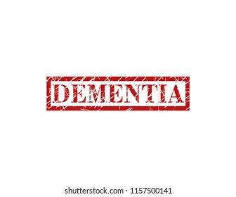 Dementia red stamp
