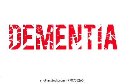 Dementia. Typographic stamp visualisation concept Original series.