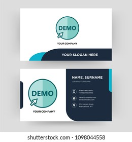 demo, business card design template, Visiting for your company, Modern Creative and Clean identity Card Vector