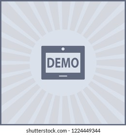 demo icon isolated on grey background for your web, mobile and app design, demo icon concept
