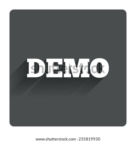 Demo Sign Icon Demonstration Symbol Gray Stock Vector (Royalty Free