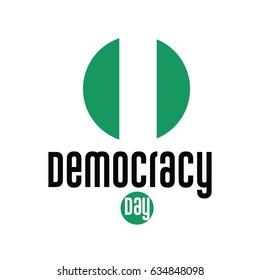 Democracy Day Logo Vector Template