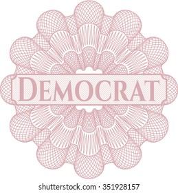 Democrat abstract rosette