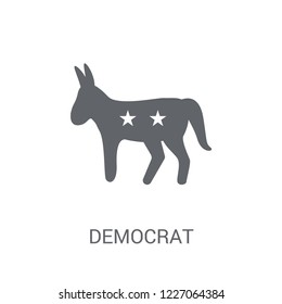 Democrat icon. Trendy Democrat logo concept on white background from United States of America collection. Suitable for use on web apps, mobile apps and print media.