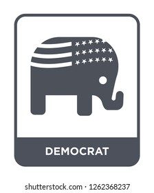 democrat icon vector on white background, democrat trendy filled icons from United states of america collection, democrat simple element illustration