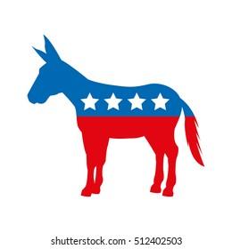 democrat party isolated icon vector illustration design