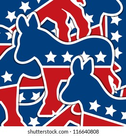 Democrat sticker scatter American election card/poster in vector format.