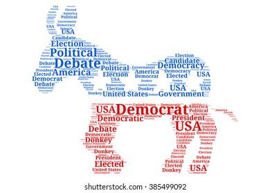Democratic Debate - Donkey Word Cloud