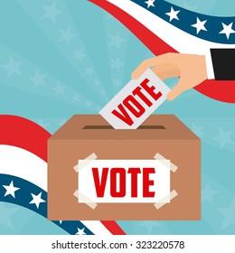 democratic election design, vector illustration eps10 graphic
