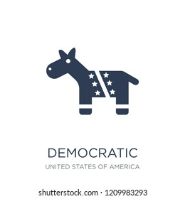 Democratic icon. Trendy flat vector Democratic icon on white background from United States of America collection, vector illustration can be use for web and mobile, eps10