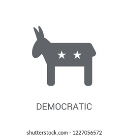 Democratic icon. Trendy Democratic logo concept on white background from United States of America collection. Suitable for use on web apps, mobile apps and print media.