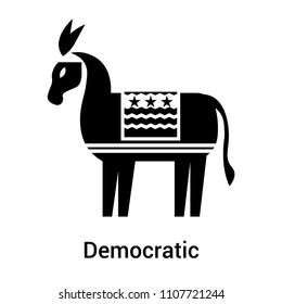 Democratic icon vector isolated on white background for your web and mobile app design, Democratic logo concept