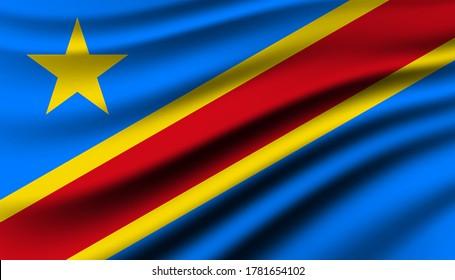 Democratic Republic of the Congo background template.
