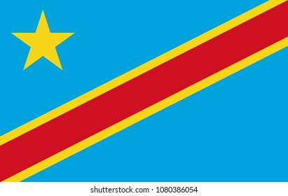 5bf1b8599bab5 Democratic Republic of the Congo flag. National current flag, government  and geography emblem.