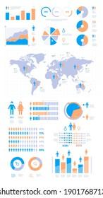 Demographic infographic. People population statistics percentage visualisation graphic garish vector business presentation