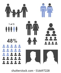 Demographic people statistic elements vector