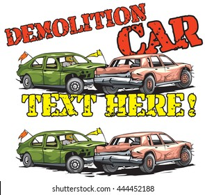 Demolition car derby logo example