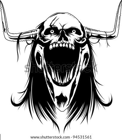 demonic skull stock vector royalty free 94531561 shutterstock