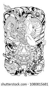 Geisha Tattoo Images Stock Photos Vectors Shutterstock