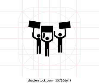 Demonstration simple icon