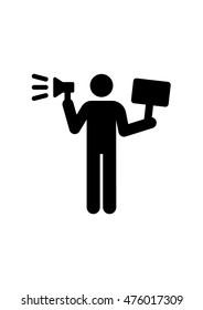 demonstrator pictogram