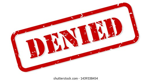 Denied red rubber stamp vector isolated