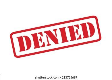 Denied >> Stockillustrationer Bilder Och Vektorgrafik Med Stamp