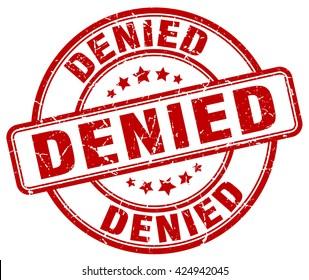 denied. stamp