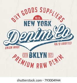 Denim Co. Dry Goods Suppliers - Tee Design For Print