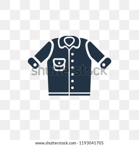 Denim Jacket Vector Icon Isolated On Stock Vector Royalty Free