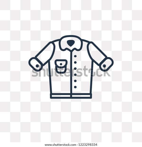 Denim Jacket Vector Outline Icon Isolated Stock Vector Royalty Free 1223298334