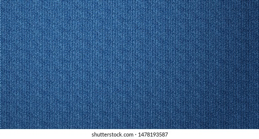 Denim texture banner background. Jeans apparel texture