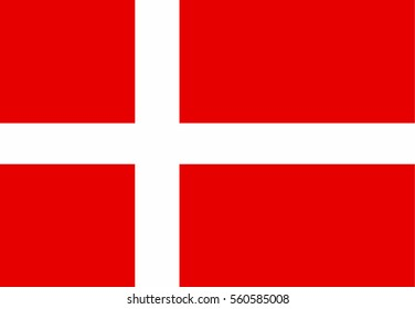 Denmark flag vector icon.