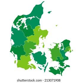 Denmark map green