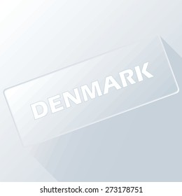 Denmark unique button for any design. Vector illustration