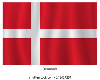 Denmark vector flag