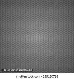 Dense Detailed Hexagon Grid Vector Pattern