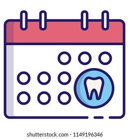 Dental appointment vector illustration in LineColor design