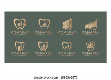 dental business logo design set