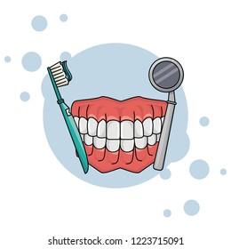 dental care cartoon